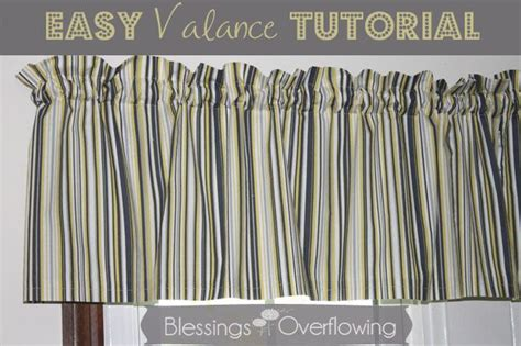 easy curtain tutorial easy valance tutorial simple the window and read more