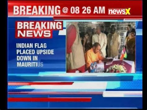 veteran explains upside down flag controversy youtube controversy over up cm yogi adityanath s picture wiith