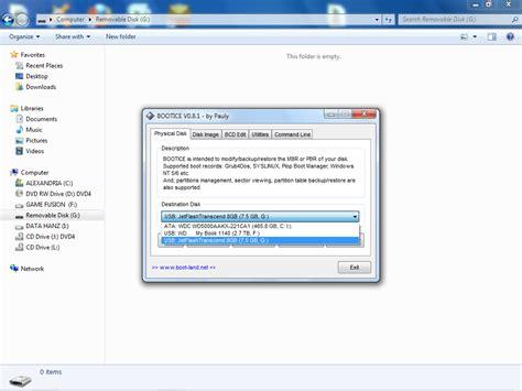 tutorial instal windows 7 flashdisk tutorial cara install windows 7 xp dan hiren dalam 1