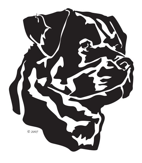 rottweiler silhouette rottweiler silhouette clip 27