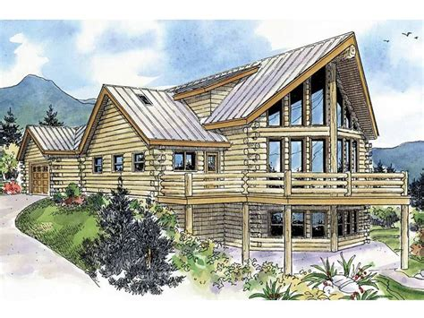 Plan 051l 0009 Find Unique House Plans Home Plans And 2 Story Log Home Plans
