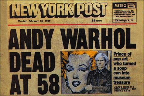 how was andy warhol when he died kenneth in the 212 the day andy warhol died
