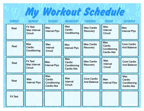 printable calendar activities printable workout calendar activity shelter calendar