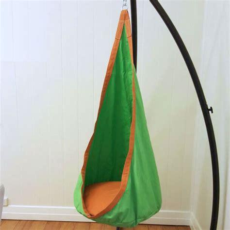 sensory hammock swing green and orange waterproof sensory swing stand