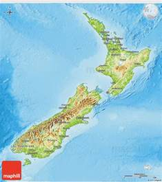 new zealand physical map geography new zealand physical map