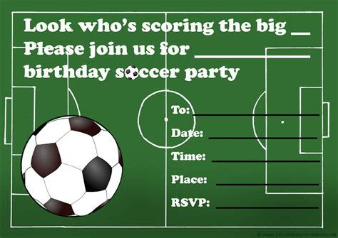 football birthday card template birthday invitations free printable
