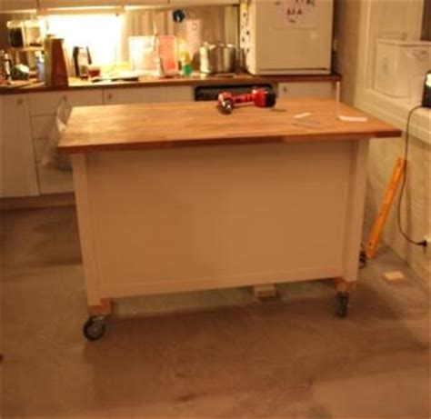 rolling island for kitchen ikea kitchen island on wheels ikea hackers