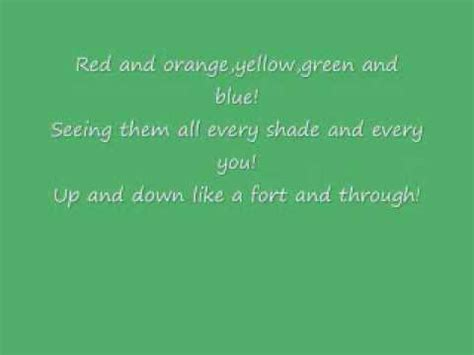 colors of the rainbow lyrics crackle colours of the rainbow lyrics singing with the
