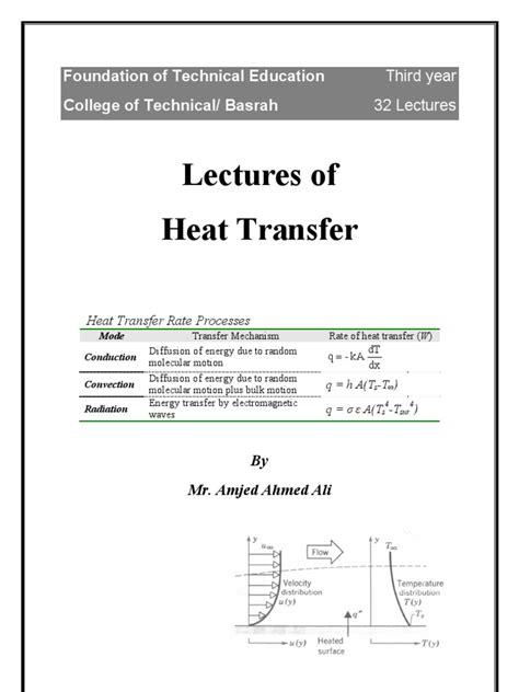 computation of conduction and duct flow heat transfer books heat transfer lectures 1 conduction heat transfer