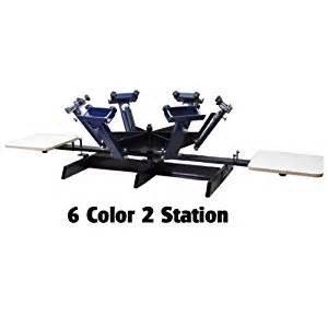 6 color screen printing press screen printing press 6 color 2 station