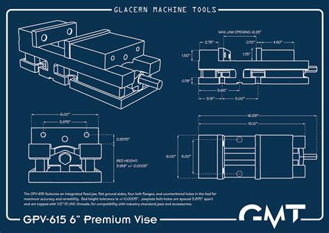 Engineers Bench Vice Glacern Machine Tools Gpv 615 Premium Vise