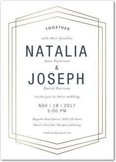Wedding Paper Divas Save The Date Magnets by Geometric Lines With