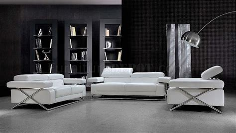 living room white living room furniture ultra modern modern full italian leather 3pc living room set linx white