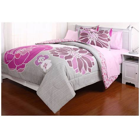 xl twin comforter size modern reversible pinky bedding set multi color floral