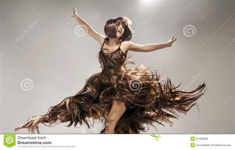 Dress Made From Human Hair Would You Wear It by Wearing Dress Made Of Hair Stock Photo Image