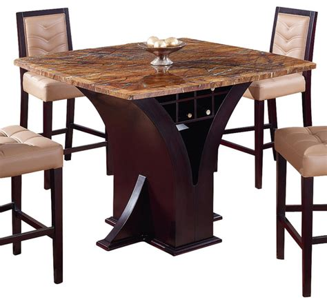 global furniture usa 800 bt square marble top bar table