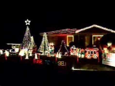 house lights synced to lights synced up to boogie woogie santa claus
