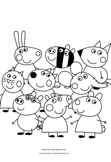 peppa pig and friends coloring pages peppa pig and her friends coloring pages