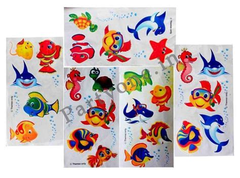 tattoo maker in meerut underwater paper tatoo set of 25 p1pc0001183 stickers