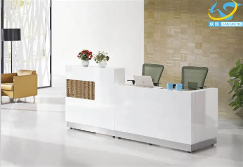 Meja Front Office modern white mfc front office reception desk buy front desk counter counter table