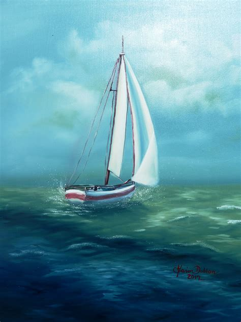 sailboat easy paintings colorful sailboat paintings easy sailboat