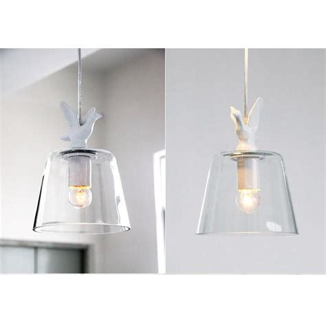 swan ceiling pendant light glass chandelier shabby chic