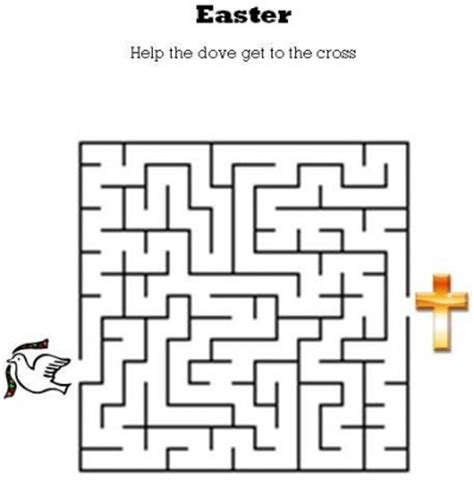printable religious mazes easter mazes the activities for preschoolers 2 easter