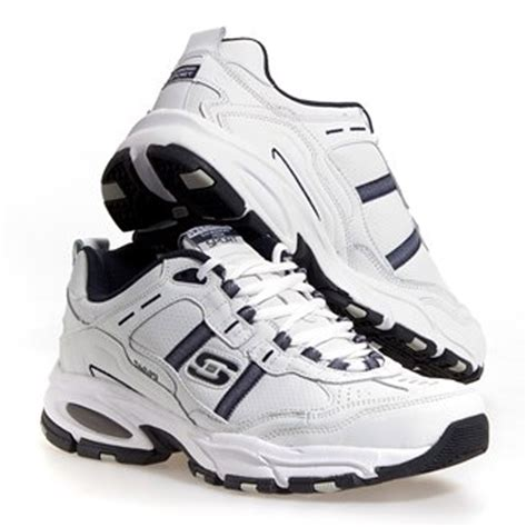 skechers s leather athletic shoes in white ebay