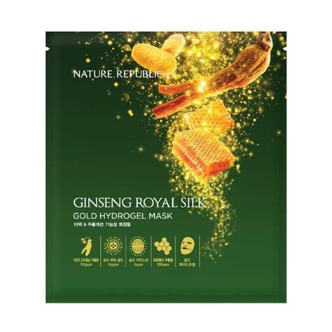 Sho Natur Gingseng nature republic ginseng royal silk gold hydrogel mask