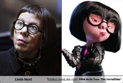helen hunt incredibles linda hunt totally looks like edna mode from quot the