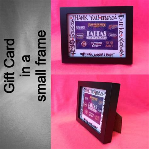 Creative Ways To Give A Gift Card - creative way to give a gift card found a small frame and wrote thank you in multiple