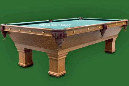 antique billiard supply classic brunswick pool table