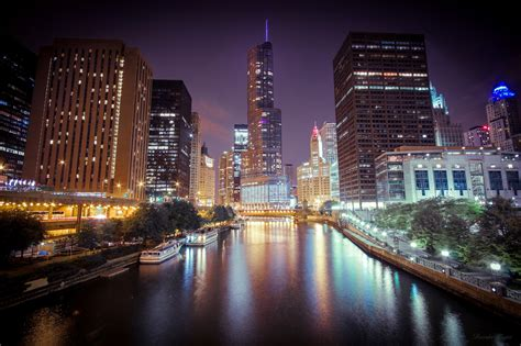 light illinois chicago illinois lights wallpaper architecture