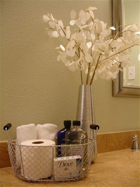 guest bathroom basket ideas a tisket a tasket an overnight guest basket it s
