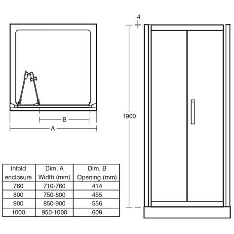 In Fold Shower Door Ideal Standard Synergy Infold Shower Door 900mm