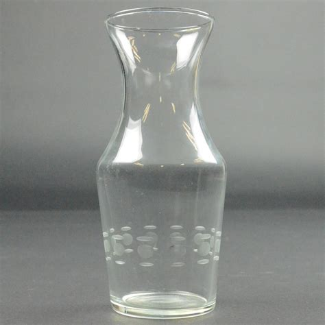 Clear Glass Flower Vase by Vintage Clear Glass Flower Vase Etched Cut Circle Pattern