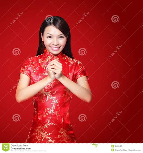 new year greeting gesture happy new year stock photo image 46805407