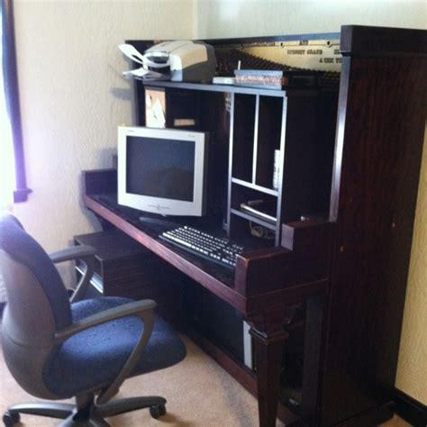 Repurposed Computer Desk Upright Piano Repurposed Into Computer Desk Great Ideas Repurpose And Save Time