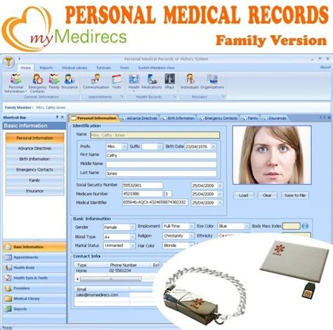 Vista Hospital Records Mymedirecs Personal Family Health Record Personal Electronic Health And
