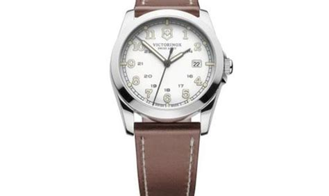 victorinox swiss army infantry white leather date quartz in vicenza italy for sale