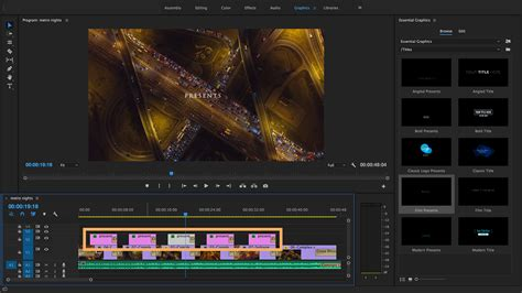 Create Titles And Graphics With The Essential Graphics Panel Adobe Premiere Pro Cc Tutorials Premiere Pro Essential Graphics Templates