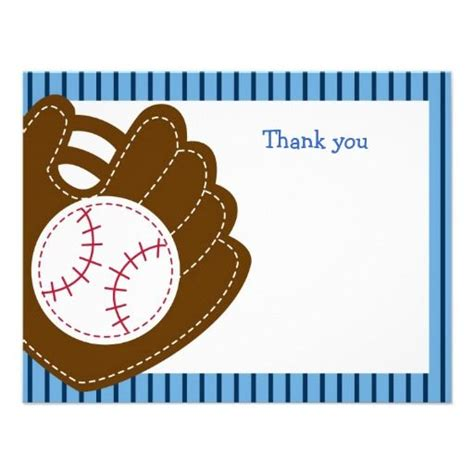 Baseball Thank You Card Template by 17 Best Images About Baseball On Boy