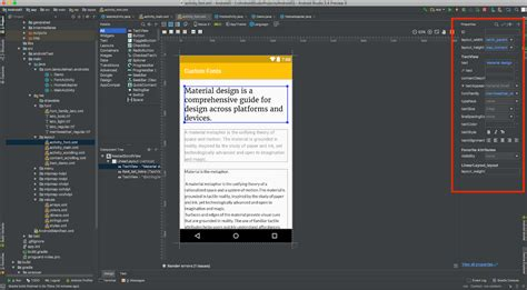 xml editor design view android o tutorial using custom font resources