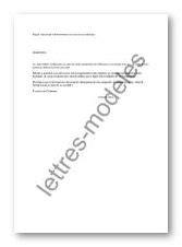 Modèle et exemple de lettres type : Demande d'adhésion
