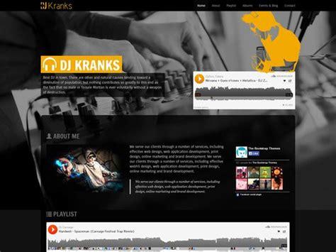 dj website templates dj kranks template free website templates