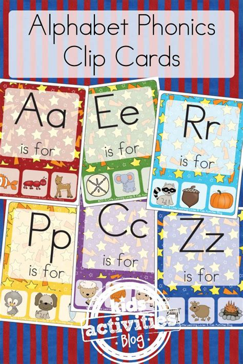 printable preschool postcards free kids printable alphabet phonics clip cards make
