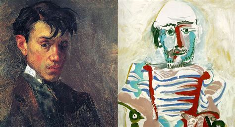 picasso paintings through the years how picasso s self portraits change the course of 80
