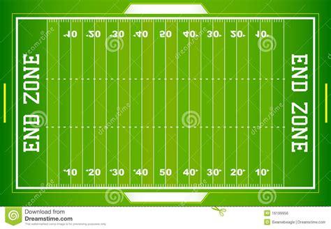 Nfl Football Field Eps Stock Vector Illustration Of American Football Field Diagram
