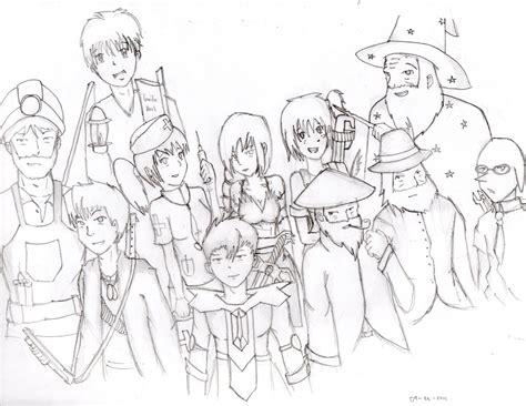 terraria npc fan art sketch coloring page