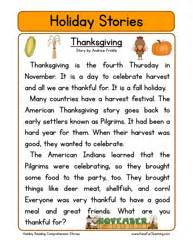 online thanksgiving stories for kids reading comprehension worksheets have fun teaching